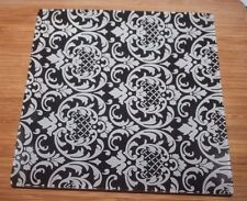 """Hobby Lobby black & white medallion 8"""" square glass plate food or candles NWT"""