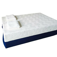 """10"""" Traditional Firm Memory Foam Mattress Bed Two Layer Queen Size with 2 Pillow"""