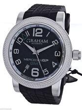 Graham Mercedes Automatic Black Carbon Fiber Dial Rubber Strap Watch AN-2MECS