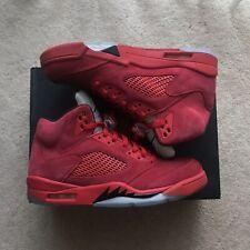 Nike Air Jordan Retro Red Suede 5 Mens size 10 Used