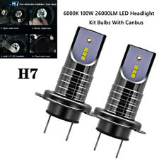 6000K Mini H7 LED Car Headlight Kit Bulbs 100W 26000LM With Canbus No Errors