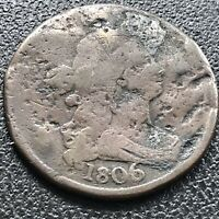 1806 Draped Bust Half Cent 1/2 Cent Circulated #17598