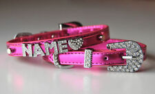 Faux Leather Personalized Dog Collars