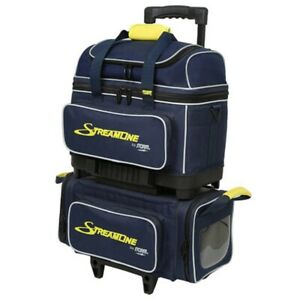 Storm 4 Ball Streamline Bowling Bag Color Navy/Grey/Yellow