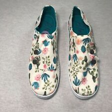 Blowfish Canvas Slip On Sneakers Cactus Print Womens Size 8.5 M