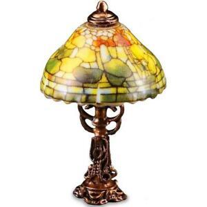 DOLLHOUSE Fruit Shade Table Lamp 1.882/6 'Autumn' Reutter Miniature