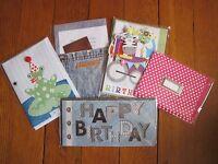 5 luxury greeting & birthday cards ZEBRA FROG MEN CHILDREN 3D POP-UP COLLECTION