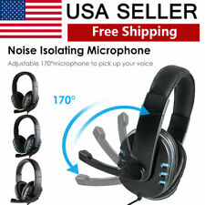 Wired Stereo Bass Surround Gaming Headset 3.5mm for PS4 Xbox One PC with Mic