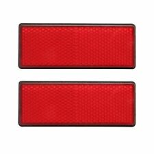 rectangle red Reflectors Universal For Motorcycles ATV Bikes Dirt Bikes M4I6