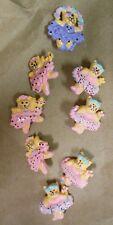 "NEW Lot of 9 1.5"" plastic dancing kittens pins ballerina kitties great gift"
