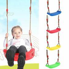 Kids Garden Swing Hanging Seat Toys Adjustable Ropes Indoor Outdoor Board Chair