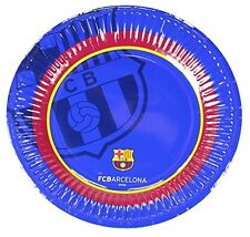 Official Barcelona Football Club FC 10 Pack Paper Party Plates 20cm Glossy Plate