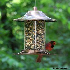 Hanging Bird Feeder Seed Metal Outdoor Garden Pet Wild Birdfeeder Squirrel Proof