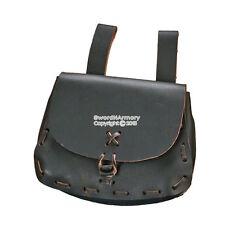 Medieval Renaissance Fair Leather Belt Knot Pouch Sachet Bag Pirate SCA LARP BK