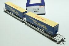 ROCO HO ÖBB  AAE 6achsiger Doppeltaschenwagen LKW Walter grau 75902 NEU OVP