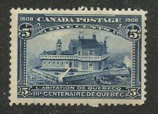 Canada 1908 Quebec Tercentenary 5c blue #99 mhr