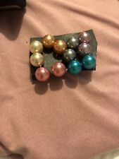 Colored Post Earrings 6 Pairs Of Assorted