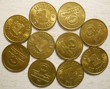 Lot of 10 CityPark (Seattle, Washington) parking tokens