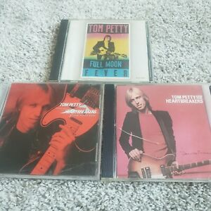 Lot of 3 CDs Tom Petty Full Moon Fever Damn the Torpedoes Long After Dark