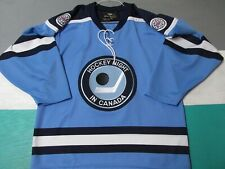 Hockey Night In Canada Roger Edwards Hockey Jersey Men's Medium Blue