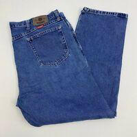Wrangler Denim Jeans Mens 42X30 Blue Straight Leg Cotton Medium Wash 5 Pockets