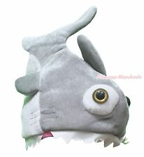 Gray Big Mouth Shark Halloween Christmas Cosplay Party Costume Warm Hat