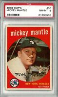 1959 Topps #10 Mickey Mantle PSA 8 MINT