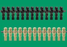 "13 Tan/13 Black Robotic Style Foosball Men for a 5/8"" Rod"