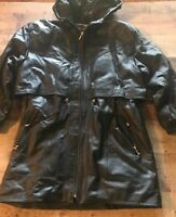 Outbrook Leather Jacket size M Black with Hood