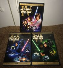 STAR WARS EPISODES IV V VI 4 5 6 DVD SET TRILOGY EMPIRE STRIKES BACK RETURN JEDI