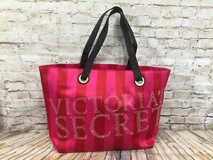 Victoria's Secret PINK / RED Satin Tote Bag
