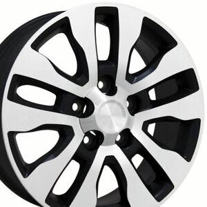 """OEW 20"""" Wheel Rim Fits Toyota Tundra TY11 Satin Black Mach'd Wheel Rim 69533"""