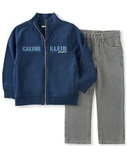 Calvin Klein Jeans 12 Month 1 Baby Boys Jacket Zip Pants 2 Piece designer