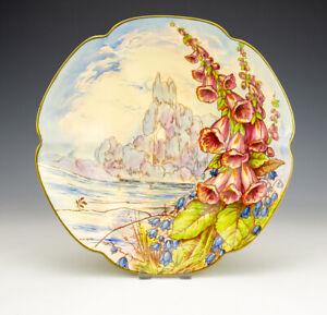 Vintage Royal Winton Pottery - Hand Painted Foxgloves Bowl - Art Deco!