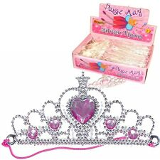 10 ~ SILVER TIARA PRINCESS CROWNS ~ GIRLS BIRTHDAY PARTY GIFT BAG FILLERS TOYS