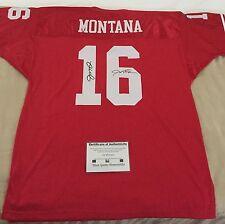 Joe Montana Autographed Signed 49ers Mitchell & Ness Football Jersey Sz 56 COA