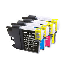 8 INK CARTRIDGE LC67 BK/C/M/Y LC38 for BROTHER PRINTER DCP-385C MFC-990CW