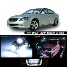 9PCS Cool White LED Interior Bulbs Package for Nissan 2002 - 2004 Altima