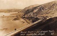 Huntington Oregon~Old Oregon Trail~Snake River Road~1940s Real Photo~RPPC