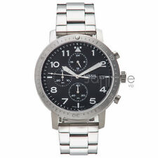 Fossil Authentic Watch Men's CH3082 The Major Silver Stainless Steel 46mm Chrono