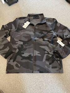 Abercrombie & Fitch Traveler Mock Full Zip Grey Camo Jacket M A&F Stretch £65