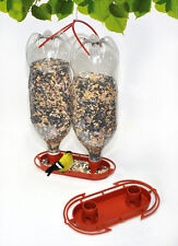 Gadjit Soda Bottle Jumbo Wild Bird Feeder Kits (Terra Cotta) Pack of 2