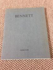 Tom Bennett Signierter Ausstellungskatalog Brief Photo RAR