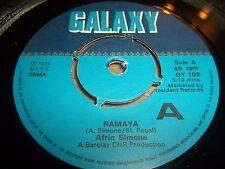 "AFRIC SIMONE "" RAMAYA ""  7"" SINGLE 1975 FUNK EXCELLENT GALAXY GY 103"