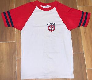 Vintage 70's Champion Mcmurray T shirt Size XL(30x19.5) Running Man Blue Bar Tag