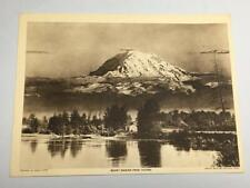 Vintage 1918 Asahel Curtis~Mount Rainier from Tacoma~ Lithograph Art Photo Print