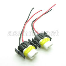 2 x H11 High Temperature Car LED Xenon Fog Light Male Connector Ceramic Plug