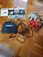 Nintendo 64 Konsole mit 2 Controllern und drei Spielen