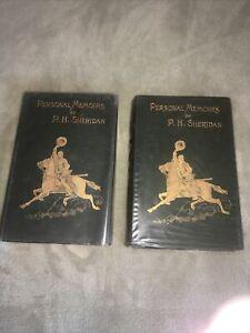 PERSONAL MEMOIRS OF P. H. SHERIDAN 1888 1st Edition Civil War General Two Vol.