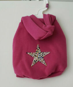Top Paw  Pink  winter girl dog hoodie size  x small